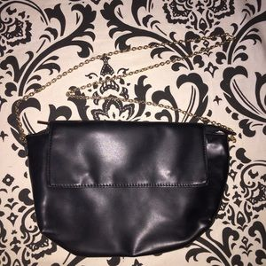 H&M simple Black purse with gold detail